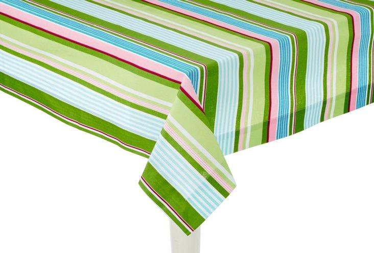 Bold Stripe Table Cloth, Grass