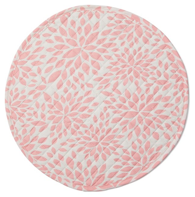 S/4 Quilted Place Mats, Pink