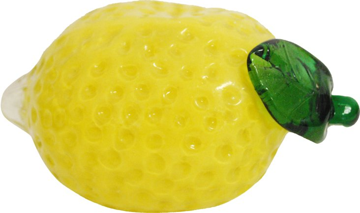 Yellow Art Glass Lemon