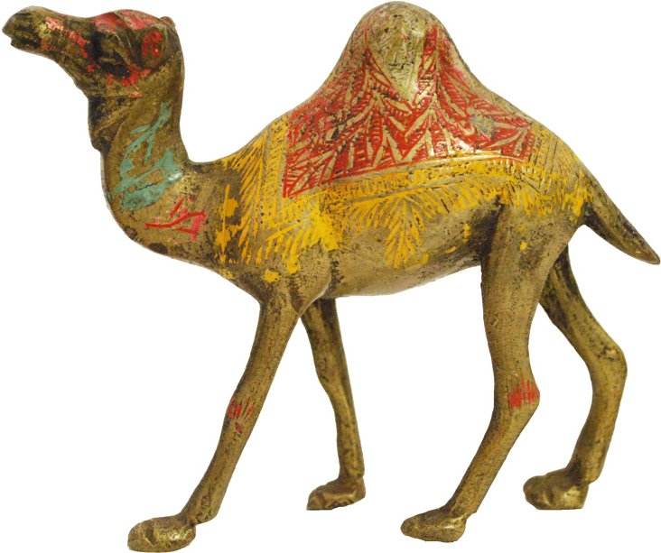 Multicolored Brass Camel