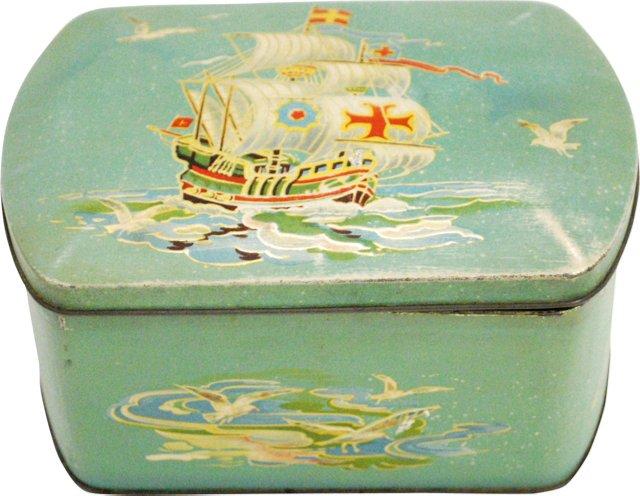 English Pirate Ship Tin