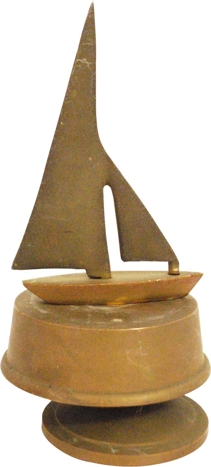 Bronze Sailboat Music Box