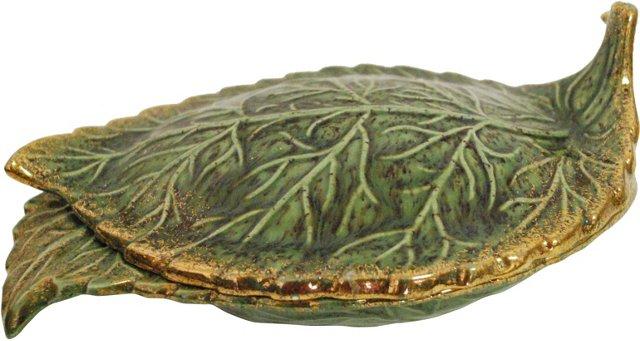 Midcentury Leaf Dish