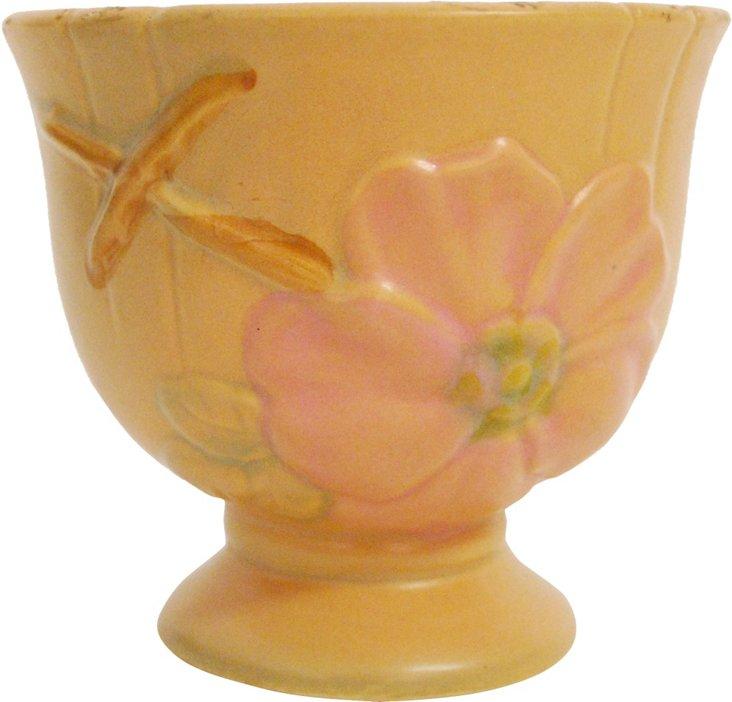 Peach Flower Pedestal Bowl
