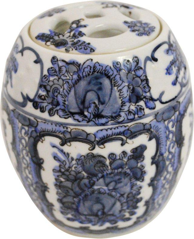 Porcelain Drum Canister