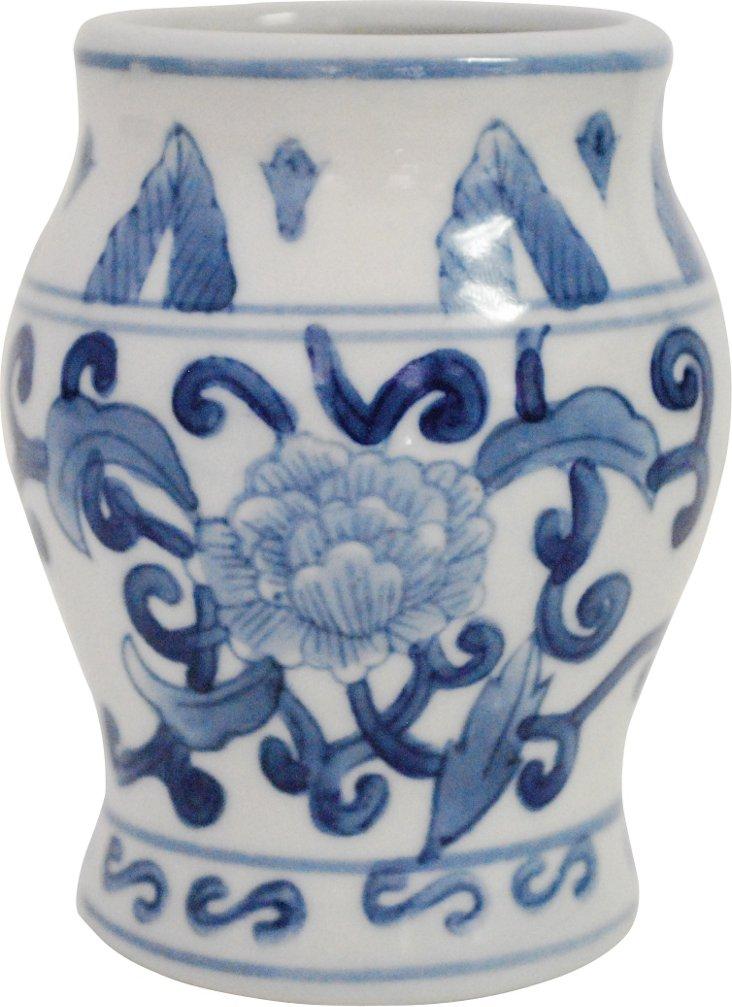 Small Blue & White Jar