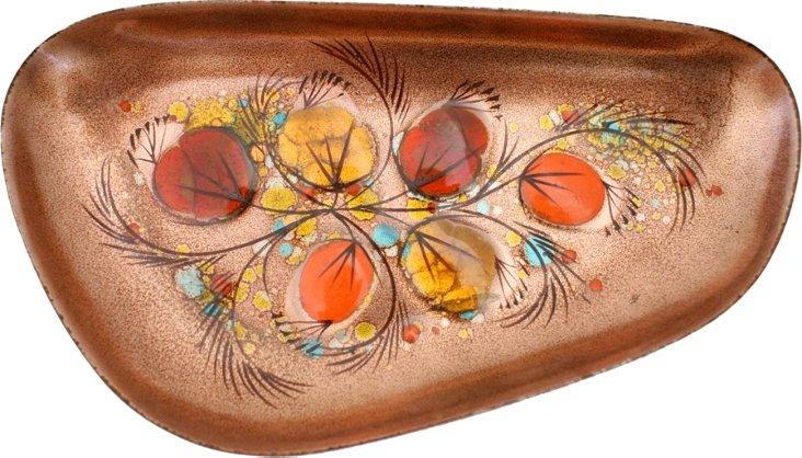 Enameled Copper Platter