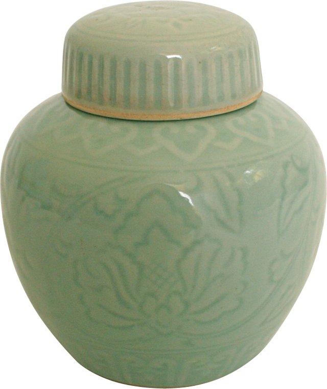 Celadon Ginger Jar