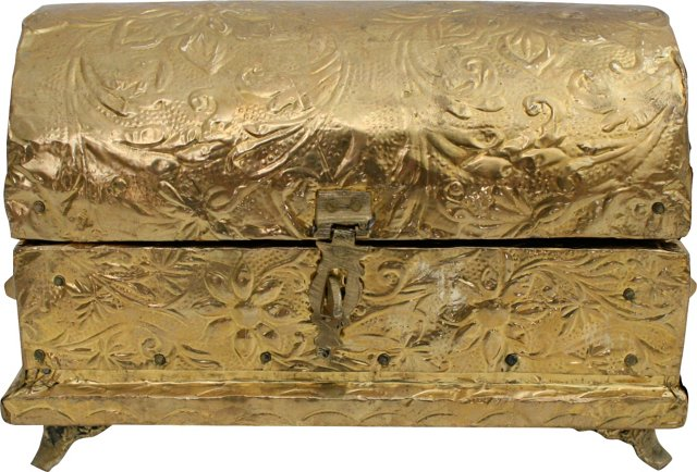 Embossed Tin Jewelry Box