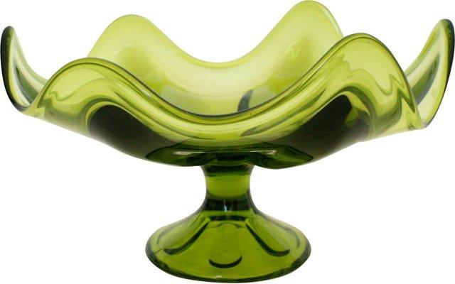 Fluted Glass Pedestal Dish