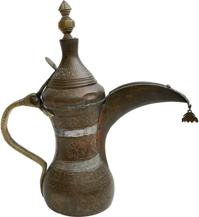 Middle Eastern Brass Teapot