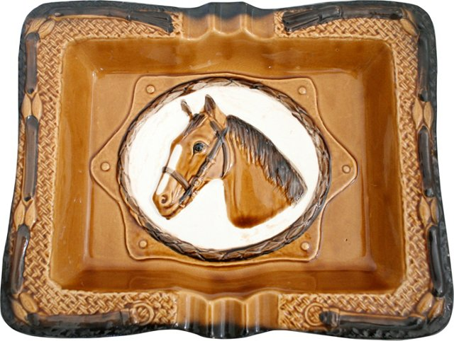Ceramic Horse Ashtray