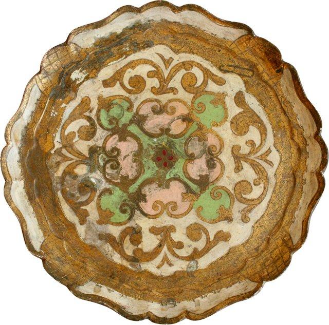 Florentine Wood Tray