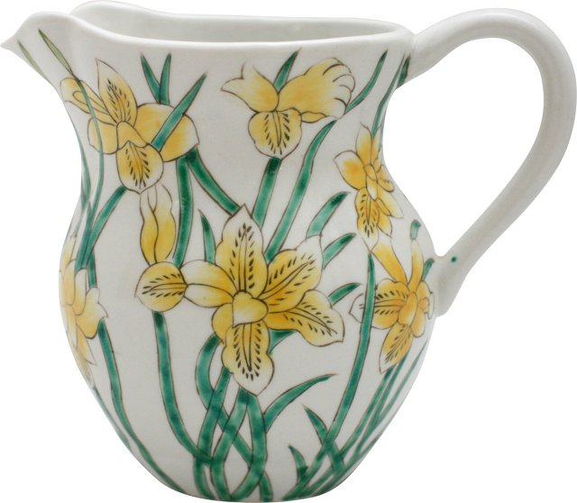 Hand-Painted Lily Pitcher