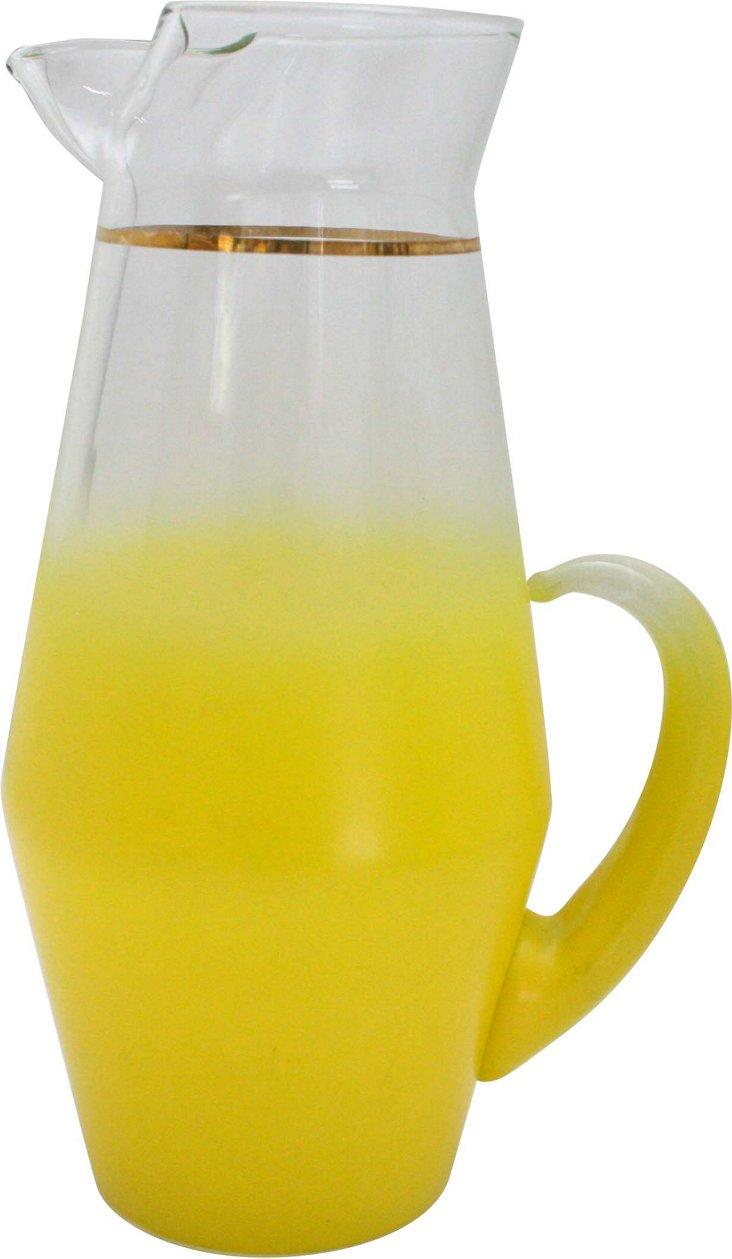 Yellow Ombré Pitcher