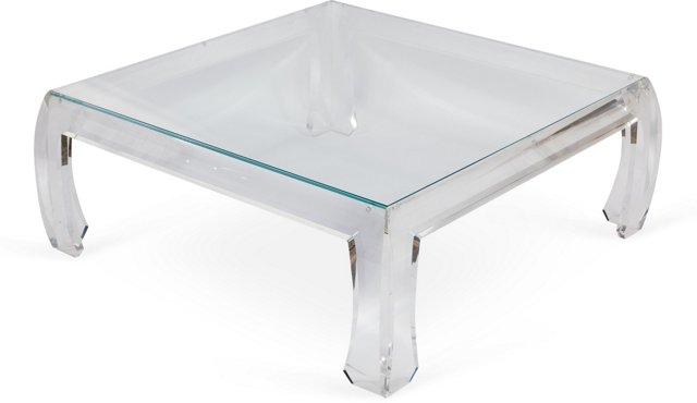 Jeffery Bigelow Lucite Coffee Table