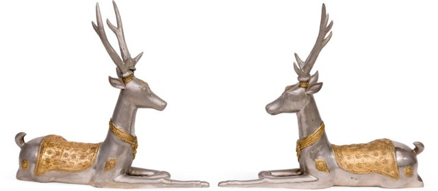 Large Royal Stags, Pair