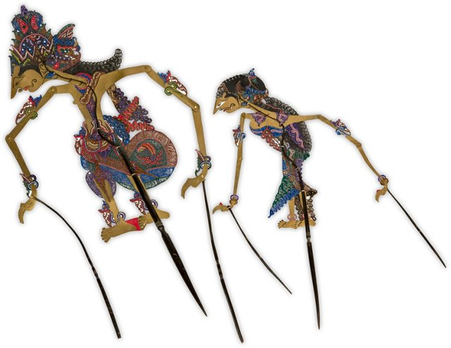 Balinese Shadow Puppets, Set of 2