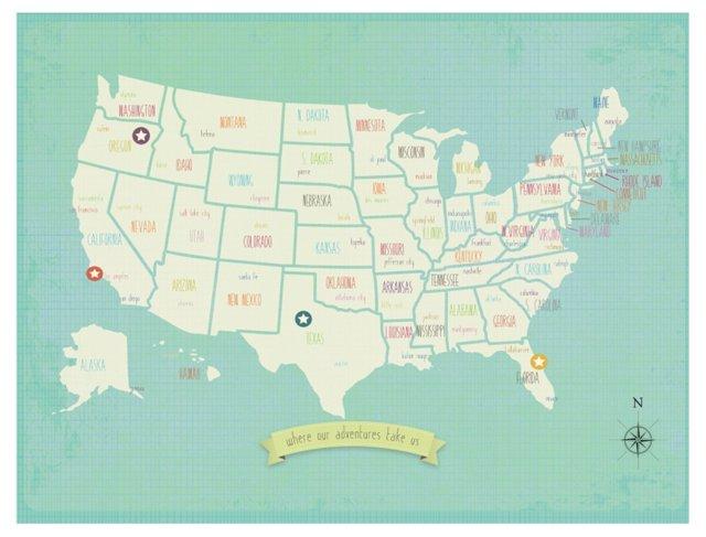Adventures USA Map