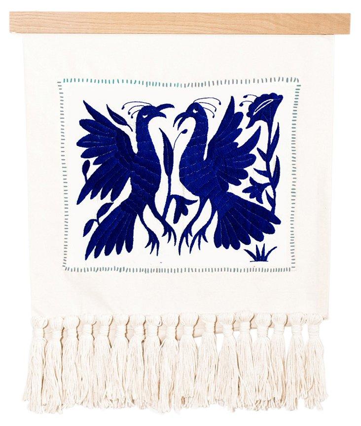 Otomi Tapestry in Indigo