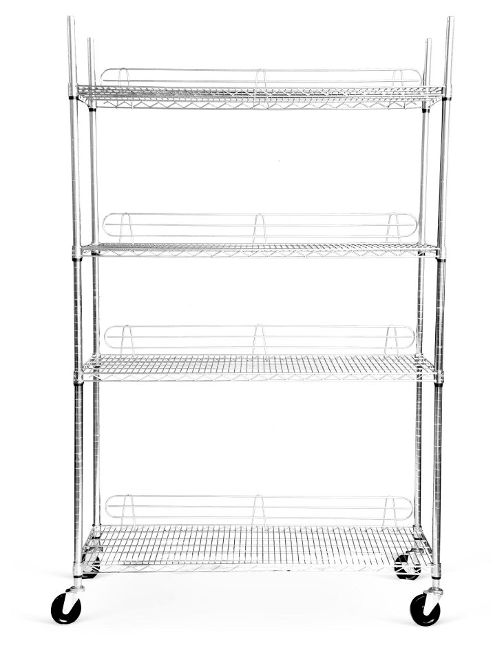 4-Tier Wire Rack w/ Wheels