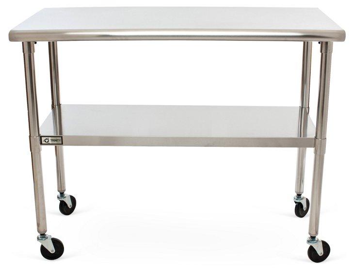 2-Tier Storage Table w/ Wheels