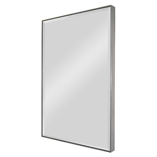 "Chester 36""x25"" Wall Mirror, Silver"