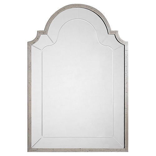 "Joseph 28""x41"" Wall Mirror, Antique Silver Leaf"