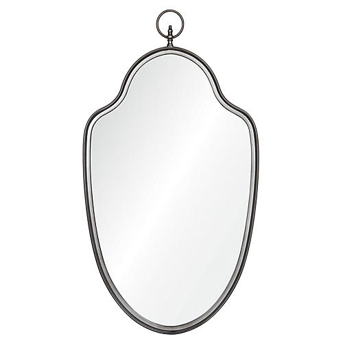 "Luna 22""x39"" Keyhole Wall Mirror, Gray"