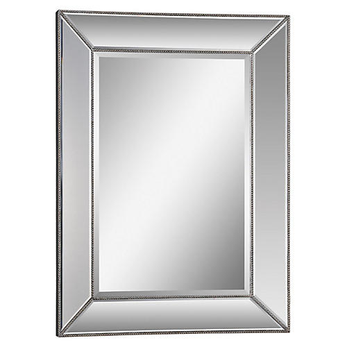 "Whitney 34""x46"" Wall Mirror, Silver Leaf"
