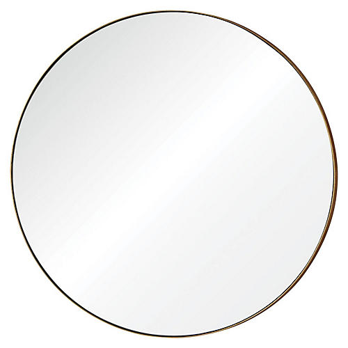 "Oryx 30"" Wall Mirror, Gold Leaf"