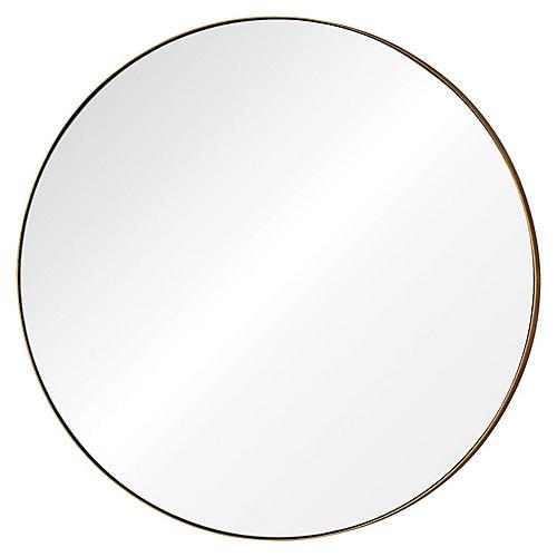 """Oryx 30"""" Wall Mirror, Gold Leaf"""