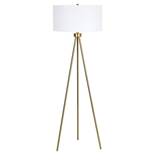 Visionary Floor Lamp, Antiqued Gold
