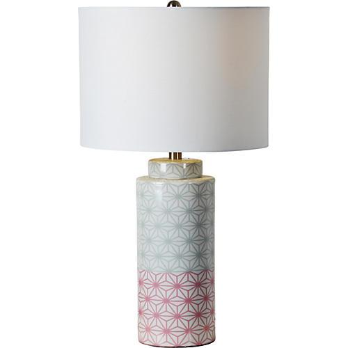 Baltimore Table Lamp, Glazed Multi