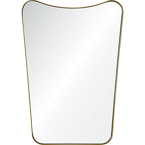 Tufa Wall Mirror, Gold