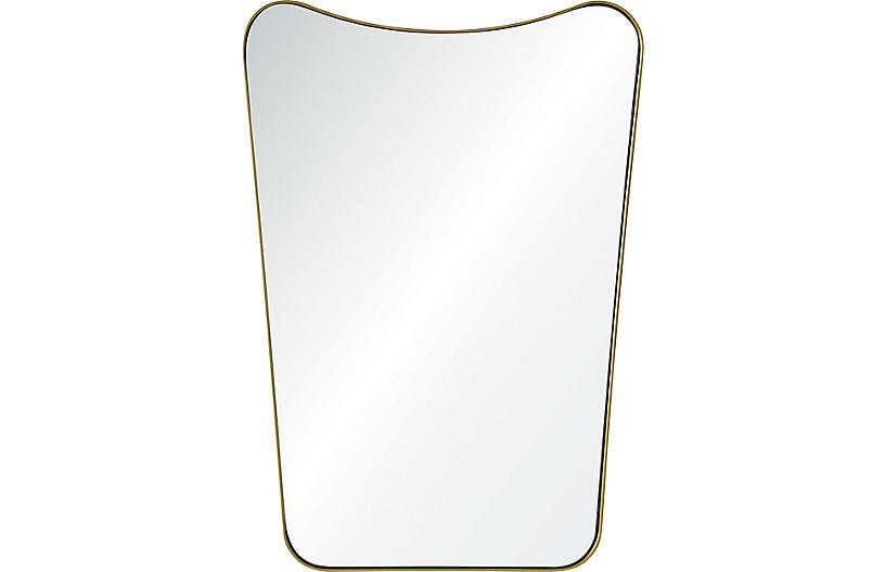 Tufa Wall Mirror, Gold