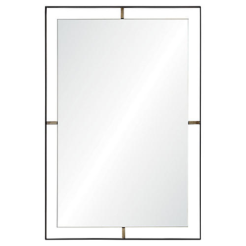 Heston Wall Mirror, Matte Black