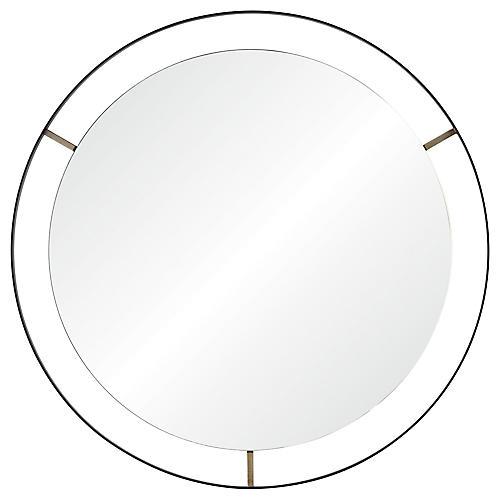 Jericho Round Wall Mirror, Matte Black