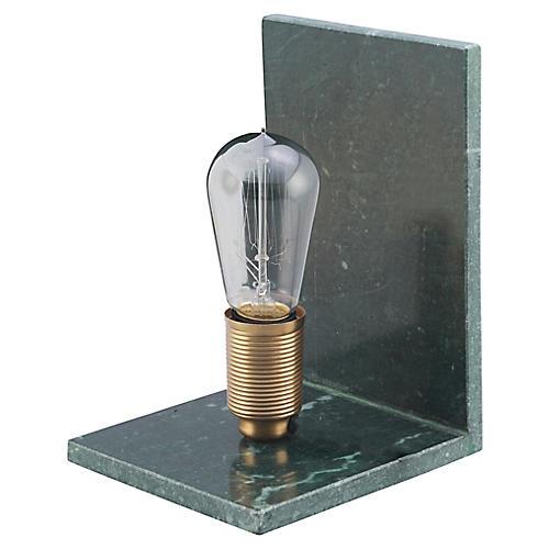 Ondine Marble Table Lamp, Green