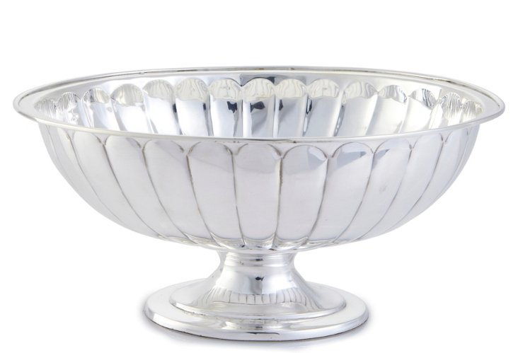 Round Ribbed Bowl with Base