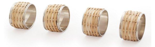 S/4 Cane Napkin Rings