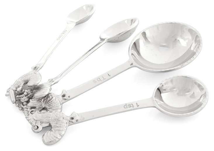 4-Pc Measuring Spoon Set w/ Ring Hook