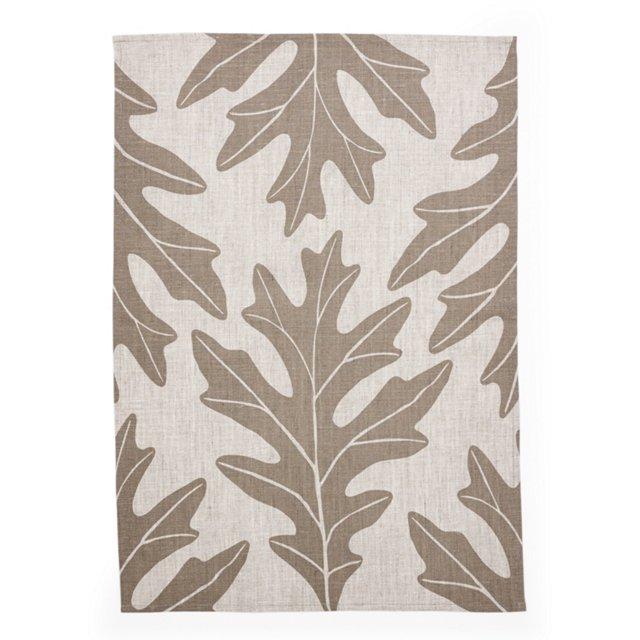 Oakleaf Tea Towel, Gray