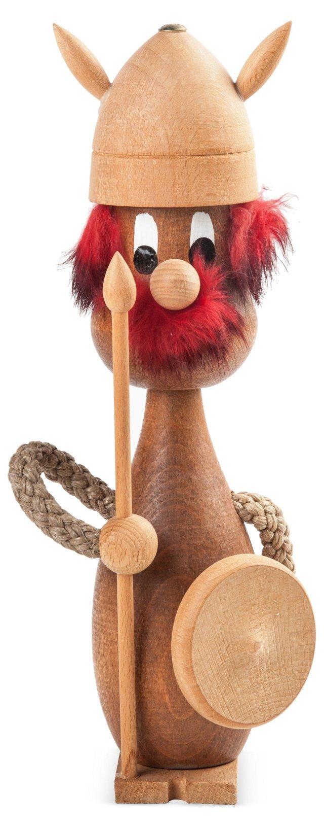 Danish Wood Viking Figurine