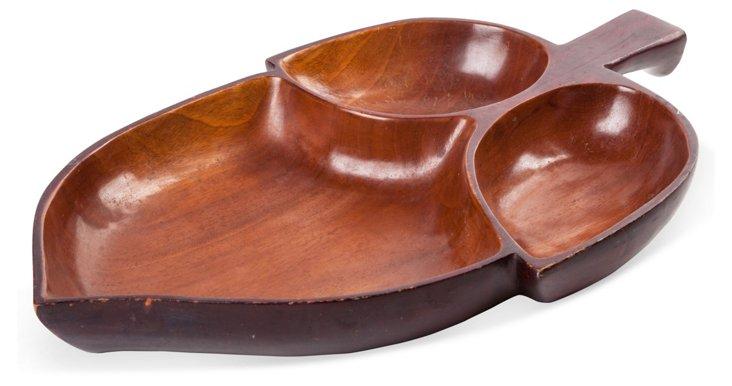 Vintage Wood Tulip Tray