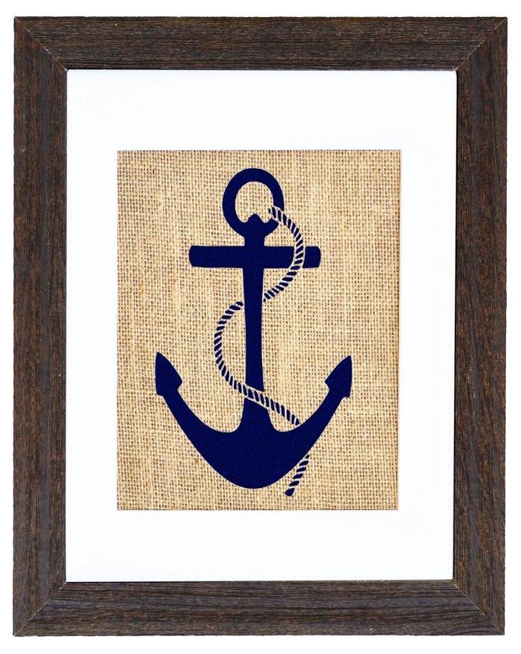Nautical Anchor Navy Print