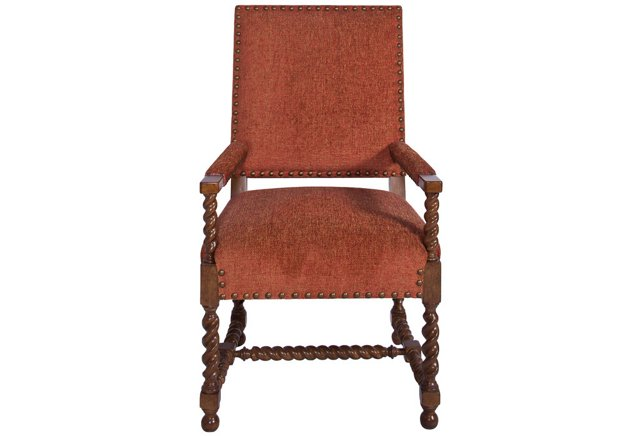 Spanish Armchair in Copper Chenille