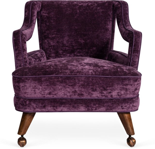 Purple Chair on Casters