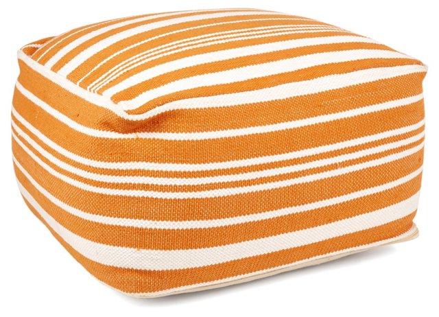 Ellie Pouf, Orange/White