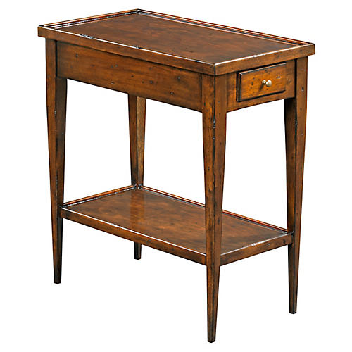 stowe nightstand chestnut